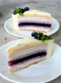 Table for 2.... or more: Blueberry Yogurt Mousse Cake - Mousse Cake #3