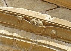 """""""The Observer"""" from the Tympanum of the Cathédrale Ste-Foy, Conques, France. Saw him & got the magnet! Sea Serpent, Art Nouveau, Chimera, Medieval Art, Romanesque, Green Man, Stone Carving, Architecture Details, Beauty And The Beast"""