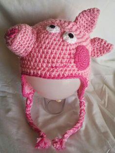 gorro tejido a crochet de peppa pig - Buscar con Google                                                                                                                                                                                 More