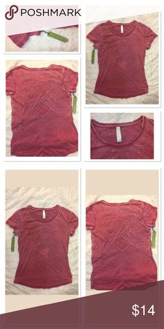 Green Tea top activewear size M cutout back in red Green Tea top activewear size M. Super soft fabric. cutout at back very cute style. New with tag. green tea Tops Tees - Short Sleeve