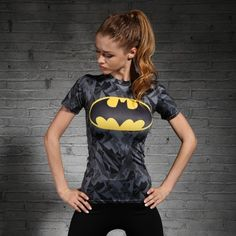 Batman Black Compression Shirt For Sports