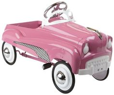 Instep Pink Lady Pedal Car Jacuzzi Hub Caps Toy Wagon Cars