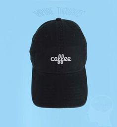 a2a83dd00b0 COFFEE Dad Hat Embroidered Baseball Cap Low by IMPURETHOUGHTS Cute Hats