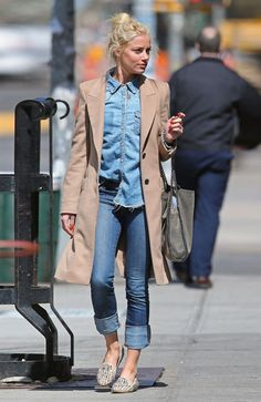 Rum Diary star Amber Heard in a denim on denim ensamble, NYC