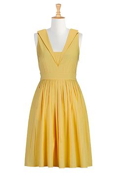 Collared citrus poplin dress - I think this needs sleeves, but I'm not sure what style.