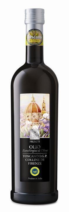 """PRUNETI COLLINE DI FIRENZE   Extra Virgin Olive Oil. Indicazione Geografica Protetta I.G.P. – Toscano """"Colline di Firenze"""". 750 ml.  #extravergine"""