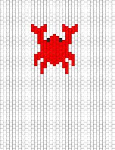 Crab bead pattern