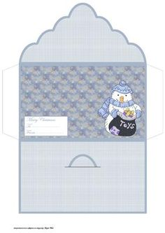 snowman with toys money wallet on Craftsuprint designed by Angela Wake - snowman with toys money wallet and ideal way to give a gift in money or as a gift voucher - Now available for download!