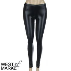 -NEW ARRIVAL-  Liquid Leggings Black Leggings, with a leather look. Go from day to night in an instant with the hottest necessity of the season! Classic legging feel with a leather look (not fake leather or plasticky!) PLEASE COMMENT TO BUY with your size, I WILL MAKE A SEPARATE LISTING FOR YOU. West Market SF Pants Leggings