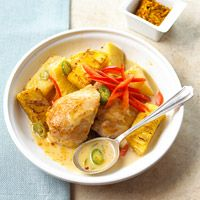 YES YES YESH  Try this quick and easy meal that features chicken thighs topped with pineapple.
