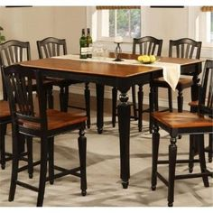 East West CT-BLK-T Chelsea Gathering 54 in. square counter height dining table with 18 in. butterfly leaf, Black & Cherry, As Shown