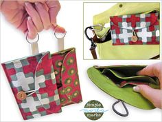 Necessities On The Go Mini Clutch Full tutorial and printable pattern...So quick to make, these would make great last minute gifts!