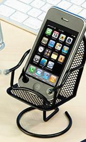Black Round Office Chair Cell Phone Holders