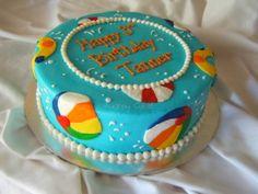 Beach Ball Cake By arosstx on CakeCentral.com