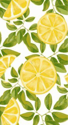 Lemon Art Print by Alessia - X-Small Ipad Wallpaper Watercolor, Wallpaper Pastel, Summer Wallpaper, Iphone Background Wallpaper, Aesthetic Iphone Wallpaper, Aesthetic Wallpapers, Watercolor Paintings, Watercolor Ideas, Cute Wallpaper Backgrounds