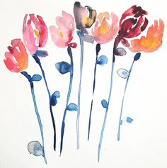 the tulips  Cut flowers series  art print giclee by KianaMosleyArt, $30.00