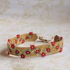 Peyote Bracelet/Peyote Cuff/Handmade BeadWoven Bracelet/Needle Beaded Cuff Bracelet – Cute Pins For You :) Beaded Cuff Bracelet, Beaded Bracelet Patterns, Peyote Beading, Bead Loom Patterns, Seed Bead Bracelets, Beading Patterns, Beaded Earrings, Diy Accessories, Friendship Bracelet Patterns