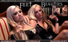 #footfetish #feet #femdom #photography #glamour #bitches #bimbos #blondes #goddess #fetish #highheels #bigboobs #plasticpositive Gorgeous blonde Goddesses - JULY DIAMOND - & - ASHLEY BULGARI - are back with nu Updates on our Site! Visit www.feet-beauties.com to see more of them!!