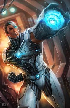 Cyborg (Dc Comics) By Nopeys Cyborg Dc Comics, Marvel Dc Comics, Math Comics, Dc Comics Heroes, Dc Comics Characters, Dc Comics Art, Marvel Vs, Dc Comics Girls, Teen Titans