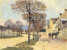 Street in Marly, Entrance to Village - Alfred Sisley - The Athenaeum