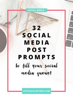 Here are 32 social media post ideas to get your creative juices flowing. Fill in the blanks, add your links + you'll have 30+ social media posts ready to go! via @letstalkladybiz