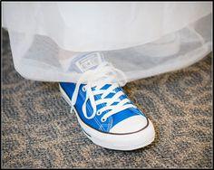 Blue converse, wedding shoes