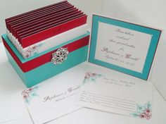 Wedding guest message box and cards