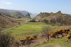 Getting the Cricket Ground ready for spring in the beautiful Valley of the Rocks near Lynton, Exmoor. Photo by John McGowan