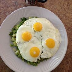 That breakfast I spoke of....yum! A plate of shredded brussels with eggs. And #coffee of course. #cleaneating #food #nofilter #weightloss #healthy #fitness #goals #postworkout #paleo #primal #fitspo