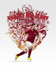 2014/15 season Club Kit launch illustrations by ILOVEDUST and Nike Brand Design - Roma