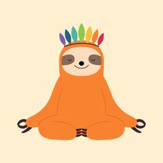 Master Of Calm Art Print by Andy Westface - X-Small Art Mural, Wall Art, Framed Art Prints, Canvas Prints, Cute Sloth, Iphone Skins, Cute Stickers, Illustrations, Animal Illustrations