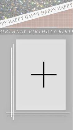 Happy Birthday Template, Happy Birthday Frame, Happy Birthday Posters, Birthday Posts, Birthday Frames, Overlays Instagram, Iphone Instagram, Instagram Feed, Birthday Captions Instagram