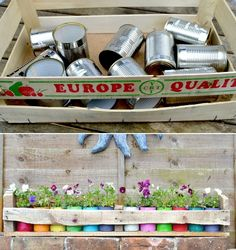Don't toss your old tin cans Expert gardener shares 10 nifty ways to reuse them is part of Easy Upcycled Crafts Tin Cans - Instead of tossing these cans, try these ideas out! Soup Can Crafts, Tin Can Crafts, Tin Can Diy Projects, Recycled Tin Cans, Recycled Garden, Recycled Art, Aluminum Can Crafts, Aluminum Cans, Upcycled Home Decor