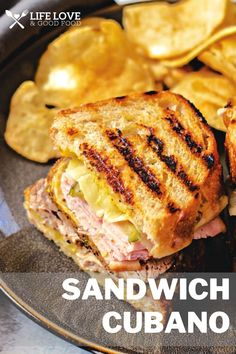These crispy, gooey Cuban sandwiches were made famous by cafes in Key West and Tampa over a century ago and remain just as popular today! Sandwich Cubano is a combination of perfectly seasoned and roasted pork, deli ham, and Swiss cheese on crusty bread slathered with yellow mustard and dill pickles for a flavor explosion in every bite! #FreakyFridayRecipes Easy Pasta Recipes, Quick Dinner Recipes, Quick Meals, Pork Recipes, Seafood Recipes, Low Carb Recipes, One Skillet Meals, One Pot Meals, Homemade Sandwich