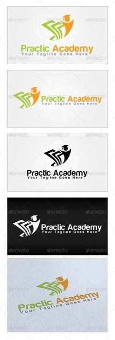 Practic Academy  - Logo Design Template Vector #logotype Download it here: http://graphicriver.net/item/practic-academy-logo-template/4766249?s_rank=620?ref=nesto