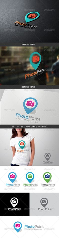 Photo Point Templates Logo Template Features 100 Scalable Vector Files Everything Is Editable I By Super Pig