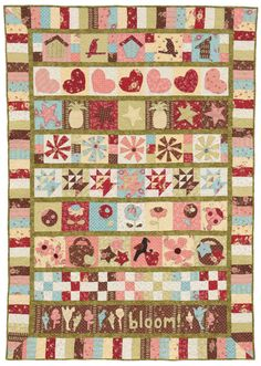 What do flip flops, kangaroos, and pin-up girls have in common? They're featured in eight gorgeous row-robin quilts made by our staff! Today it's a treat to share an article from a very special issue of McCall's Quilting with you—it'll inspire you to gather with other quilters and create some fun.