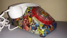 Handcrafted Marvel Vintage Telephone by McCafferty Made - marvel-comics Photo. B*