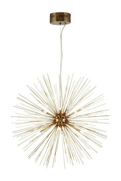 NEXT Osiris 12 Light Soft Brass Pendant Gold Sputnik Metal Ceiling Light in Home, Furniture & DIY, Lighting, Ceiling Lights & Chandeliers | eBay