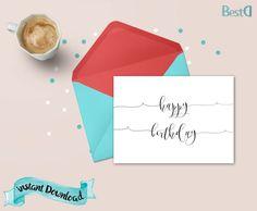 Birthday greeting cardbirthday card by BestDesignland on Etsy