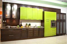 Салатовая кухня, дизайн интерьера, в салатовых тонах, цвете, фото и видео…