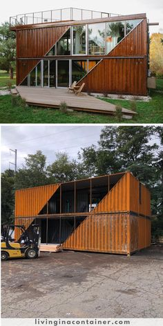 Building A Container Home, Container Buildings, Container Architecture, Shipping Container Home Designs, Container House Design, Fashion Window Display, Casas Containers, Farmhouse Plans, Architecture Details