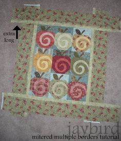 mitered multiple borders tutorial - {quilting basics tutorial series} | Jaybird Quilts