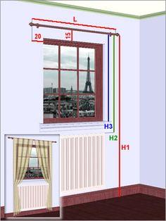 prise de mesures rideaux pour fenêtre