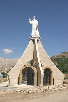 St Charbel Statue, Bekaakafra, Bcharreh District, North Governorate, Lebanon  #Lebanon