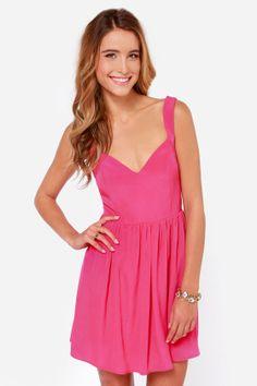 Tie by Night Backless Fuchsia Dress at LuLus.com!