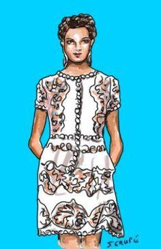 """Spitzenkleider in mädchenhaftem Look sind am besten für junge Frauen und sehr zierliche """"Feen""""-Frauen geeignet."""