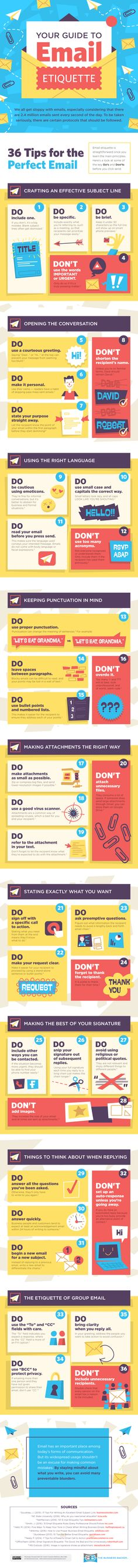 Your Guide to Email Etiquette #Infographic #Email #Business