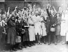 Mahatma Gandhi visiting textile workers | Darwen, Lancashire, England | 1931 | invited to observe the effects of the Indian independence movement's boycott of British goods on England's textile industry
