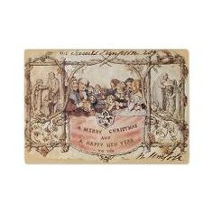 Glass Cutting Board - Vintage Christmas  This beautiful vintage scene of people celebrating Christmas is reported to be the illustration f...